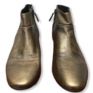 Cole Haan Gold Metallic Allen Ankle Boot - US 7.5B